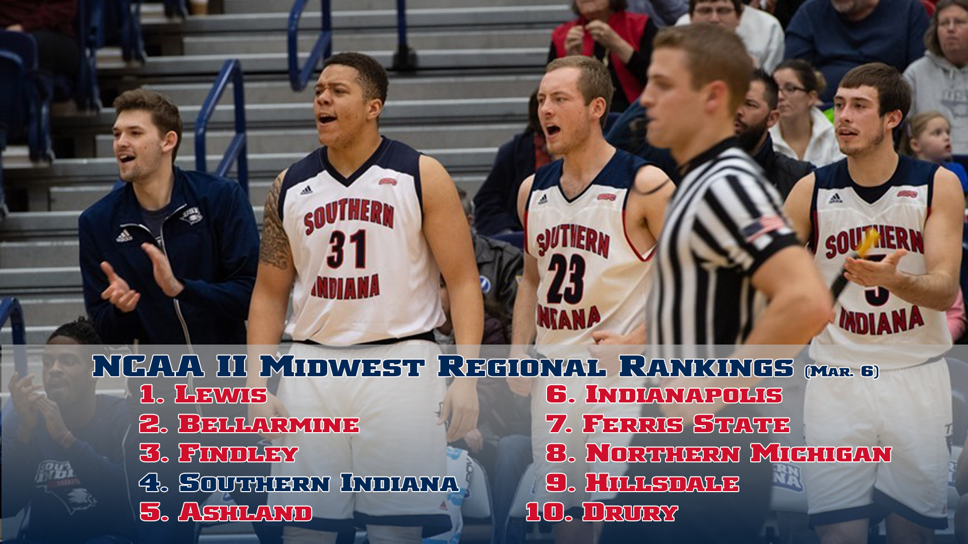 Usi Men S Basketball Remains 4th In Regional Poll