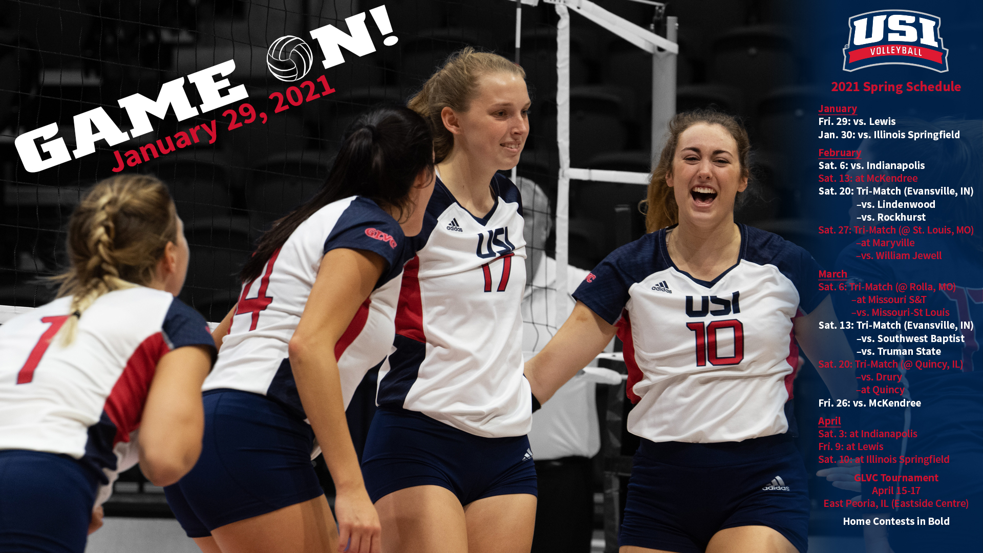 Glvc Releases New Volleyball Schedule University Of Southern Indiana Athletics